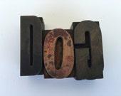 Vintage Wooden Letterpress DOG Letter Type Home Decorative Animal Lover