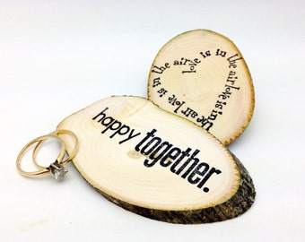 25 Party Favors Save The Date Tokens Reclaimed Branch Slices Hand Stamped Woodland Table Decor