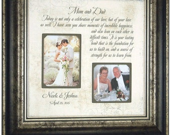 Personalized Wedding Frame Parents of the Bride Parents of the Groom Wedding Gift picture frame, CELEBRATION OF LOVE 16x16