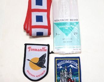 Vintage Lot of Sewing Trim Soutache Braid Patches Austria Germany