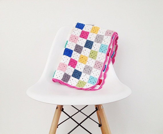 Crochet Granny Square Blanket Pattern - Instant Download