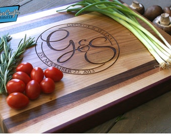 Custom chopping block - Personalized and Engraved - Wedding Gift - Anniversary Gift - Housewarming Gift