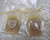 Mini soaps, Blush favors- 30 bridal shower favors soaps, with cello bags, organic, handmade soap- select you scent/color