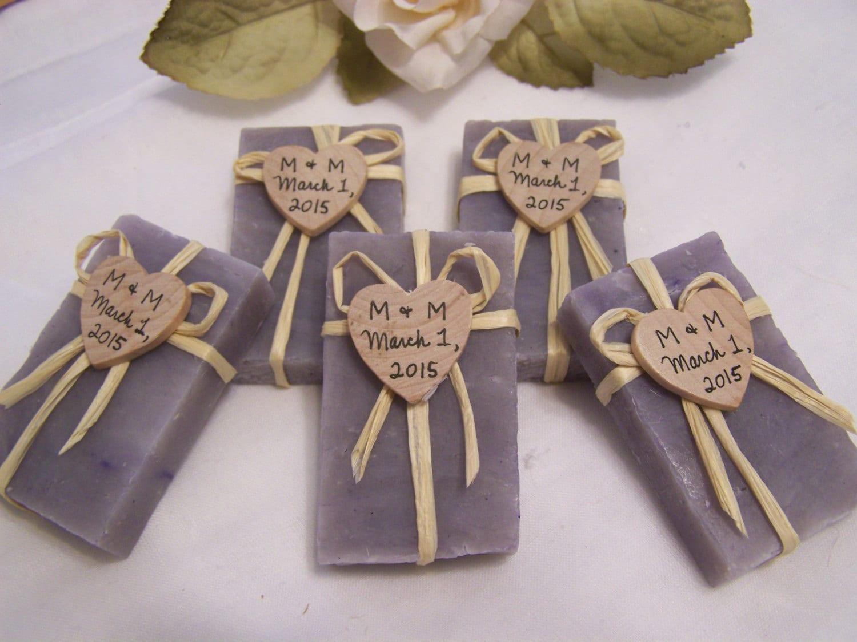 50 Wedding Favors Soaps Mini Soaps LAVENDER Shea Butter