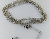 Wholesale-40 pcs  antique silver finished  rolo chains-with clasps and extender chain-F1369