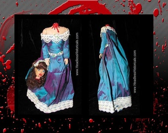 Princess de Monaco - Guillotined during the French Revolution. Gruesome effigy doll by Headless Historicals.