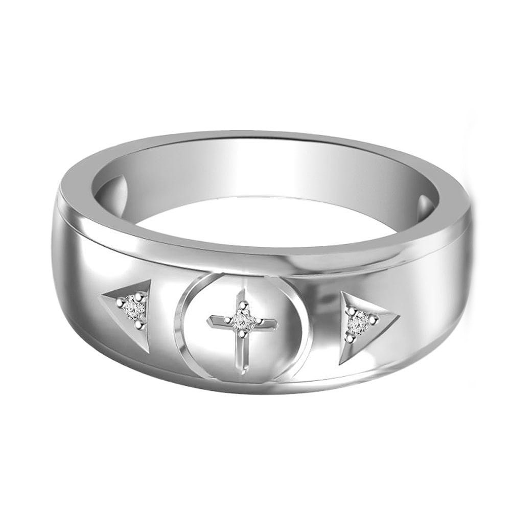 mens cross ring wedding band mens cross by
