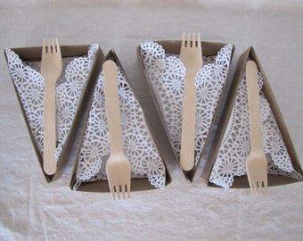 PIE SLICE BOX- For Weddings, Picnics, Parties, Holidays- Pie Box, Liner, Wooden For, Pie Bar