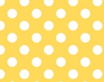 Riley Blake Cotton Flannel Yellow Medium Dot 1 Yard