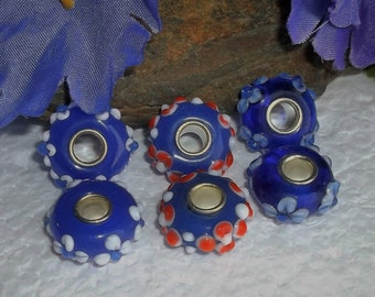 20 Murano Glass Embellished Beads