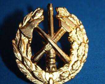 RARE Russian Soviet Firemen Hat Badge - Mens Gift