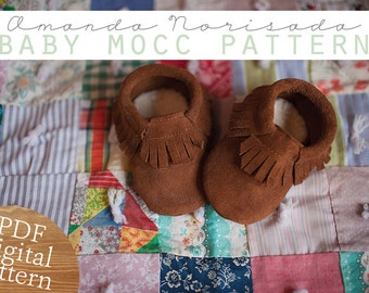 Baby & Toddler Moccasin Sewing Pattern - PDF Instant Download