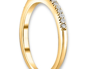 14K White / Yellow / Rose  Gold  Natural Round Diamond Wedding Band  Aniversary Ring ENS4110