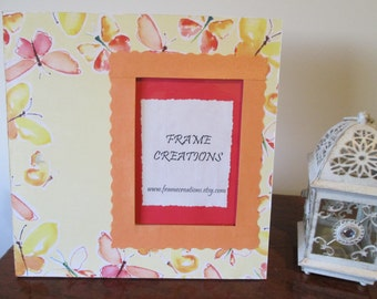 5x7 Butterfly Themed - Hand Decorated Picture Frame