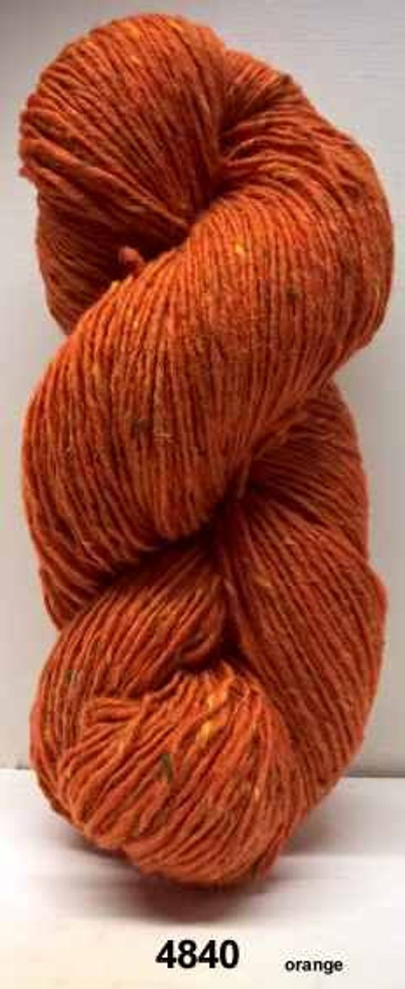 Aran Tweed Yarn (Orange) Irish Donegal Kilcarra Wool 7oz/200g