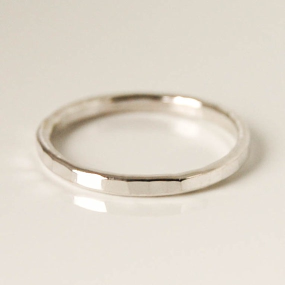 silver stacking ring thin silver band sterling by