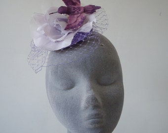 Lilac Fascinator- Lilac Hummingbird and Flower Fascinator