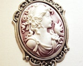 Sweet Rose Cameo Antique Brooch