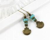 She Sells Seashells Dangle Earrings