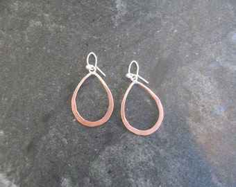 Small copper Teardrop Earrings