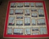 QuiltedThrow - Nautical - Sailboats
