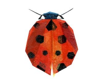 Ruby Bug - Animal Art Print