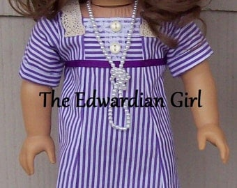 Mary Crawley Downton Abbey inspired tea dress.  Fits 18 inch dolls American Girl, Springfield, Our Generation. Made in USA.