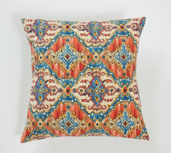 Teal Blue Throw Pillow Covers : Kilim Pillow Covers Teal Blue Kilim Pillows by JacqueAnnDecor