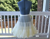 Vintage Style Double Layer Off White Petticoat
