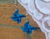 Blue Pinwheel Earrings