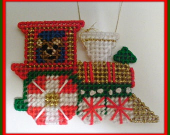 Toy Train Teddy Bear Train Ornament