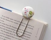 Oversized Paperclip Bookmark. Modern Floral. Ready to Ship.