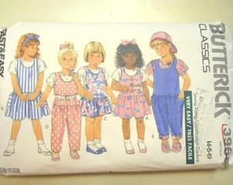 Butterick 3968 Children's  Size 4, 5, 6