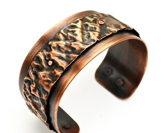 Copper Cuff Sherman Fold Bracelet