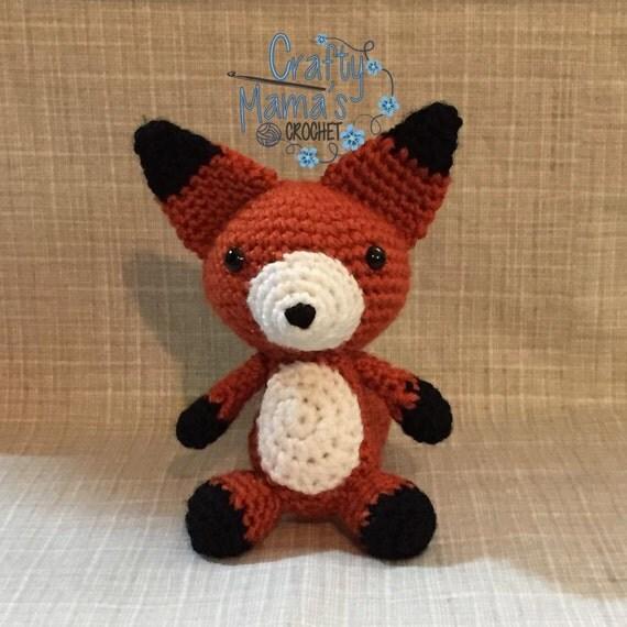 Amigurumi Care Instructions : Red Fox Amigurumi Crochet Animal Crochet Plush Toy