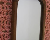 Doll House Miniature Wood Wall Mirror