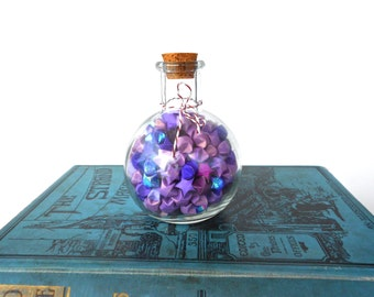 Purple Origami Star Potion in a Bottle