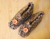Knitted Slippers | Pink, Blue Multicolored  Slippers | Adult Large  Slippers