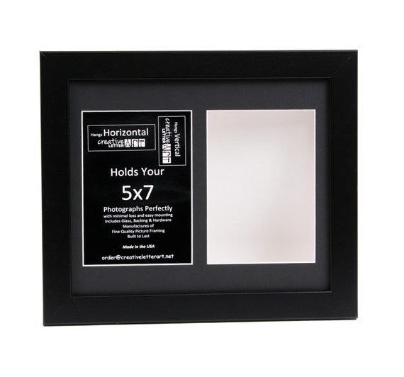 5x7 Black 2 Opening Picture Frame With 10 By 14 Inch