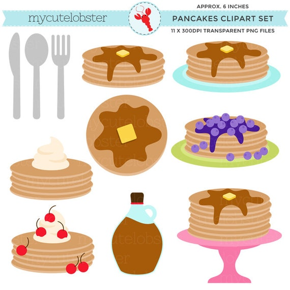 Pancakes On Cake Stand Clipart
