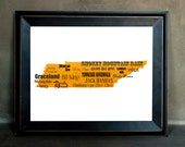 "Best of Tennessee Word Art, 11""x14"" on Fine Art Paper"