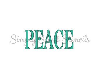 Peace Stencil