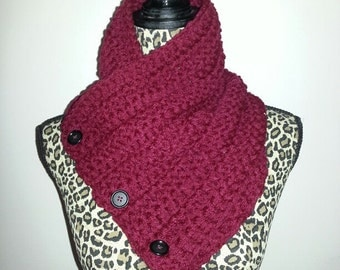 3 Button Scarf (Ready to Ship)