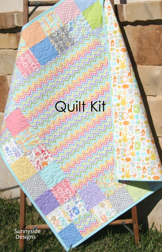 Last one baby quilt kit bump to baby gina martin moda fabrics last one baby quilt kit bump to baby gina martin moda fabrics chevron green pink pruple baby items modern girl diy do it yourself from kblandfordfabrics solutioingenieria Images