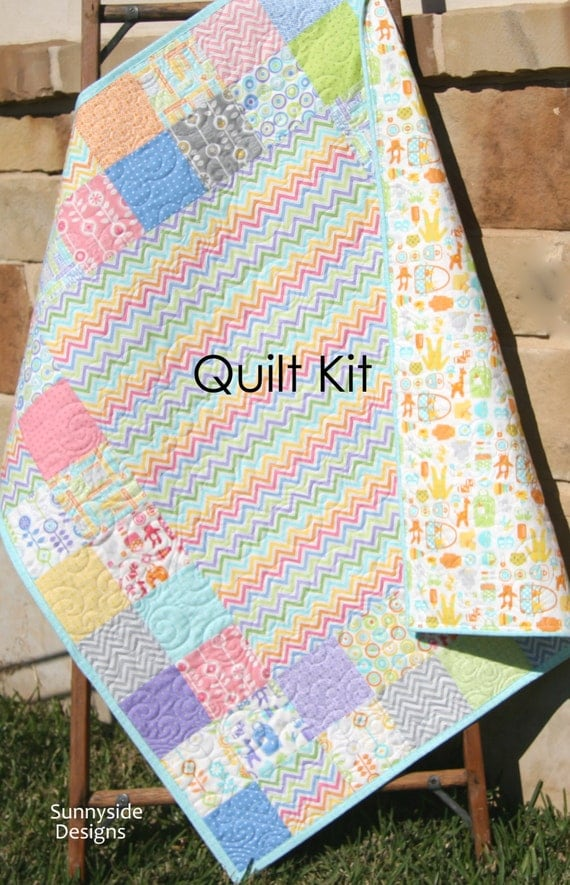 Last one baby quilt kit bump to baby gina martin moda fabrics last one baby quilt kit bump to baby gina martin moda fabrics chevron green pink pruple baby items modern girl diy do it yourself from kblandfordfabrics solutioingenieria