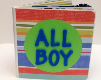 Boy scrapbook premade pages chunky board book best friend our boy all boy