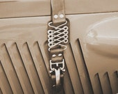 Vintage Auto MG Roadster Hood strap Detail, 5x7 Sepia Photo