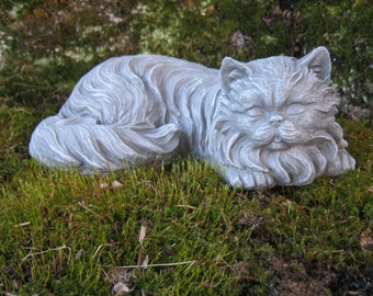 Cat Statue, Concrete Cat Statues, Long Haired Cat Figure, Concrete Statues  Of Cats