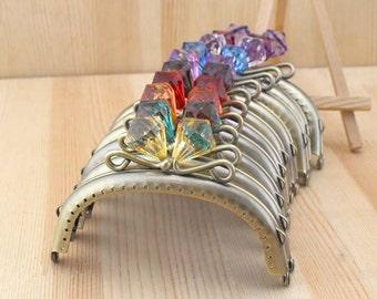 10PCS 10.5cm (4.13inch) antique bronze sewing bag metal purse frame A268(10 colors)