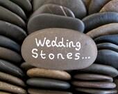 50 Wish Stones Flat Rocks Guest Book Stones Beach Wedding Decor Wishing Stones Message Rocks Memorial Rocks Craft Stones - 1.5 inch